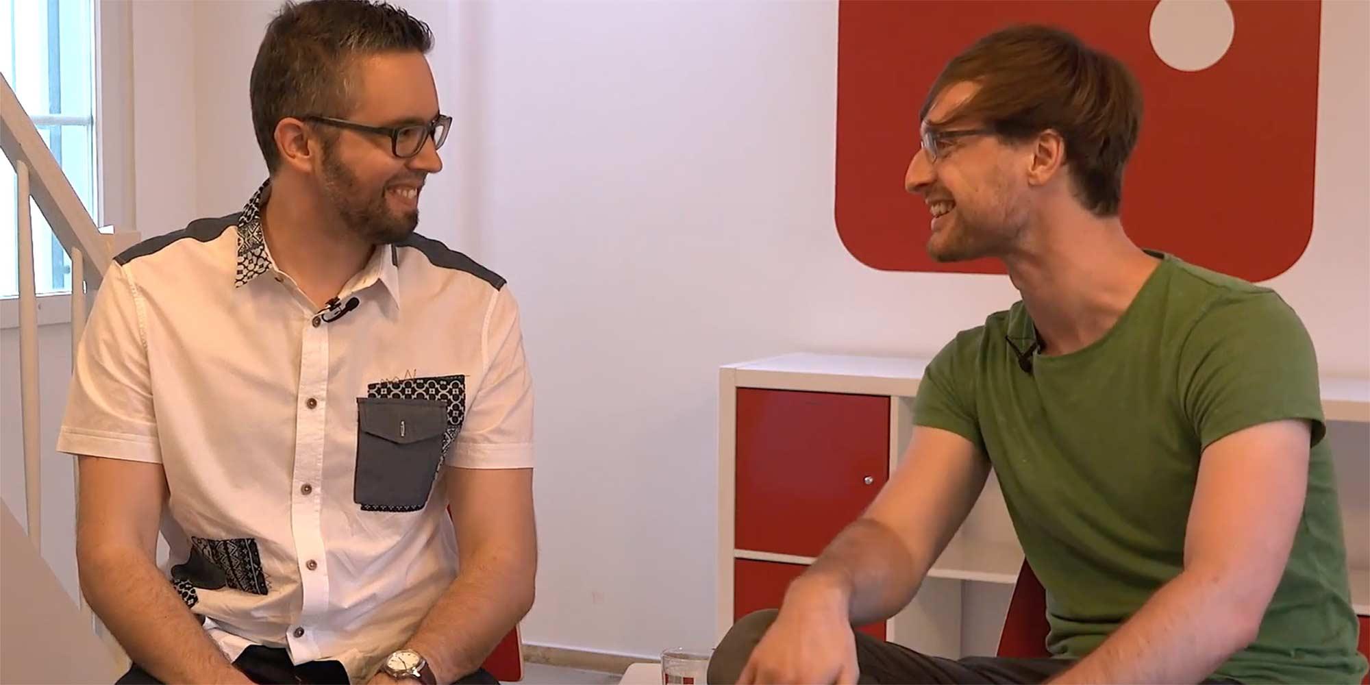 Stefan Vetter mit Dennis Just